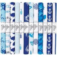 "Nautical - Fabric Palette Fat Quarter Assortment 18""X21"" 1/Pkg (24/Pack)"