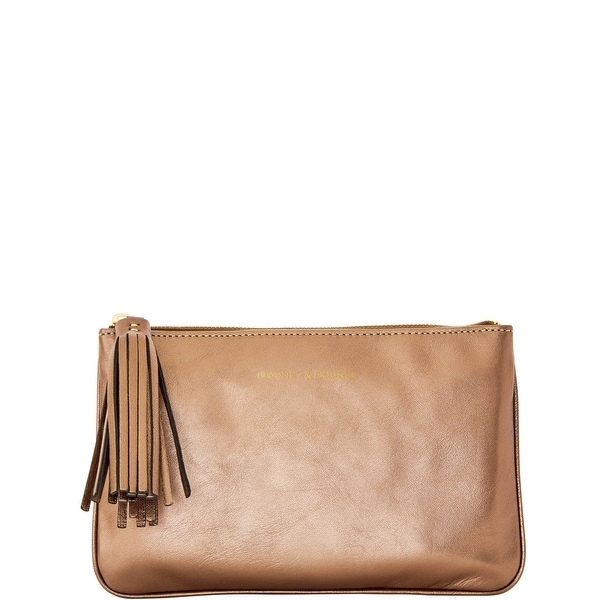 Dooney & Bourke Lambskin Carrington Pouch (Introduced by Dooney & Bourke at $88 in Aug 2016) - Bronze