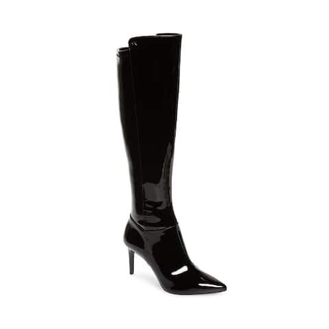 Michael Kors Women's Patent Leather Dorothy Flex Tall Boot Black