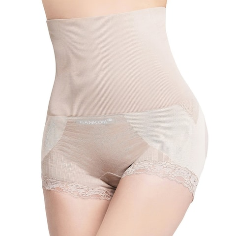 SANKOM Posture Corrector Patent Lace Brief Shaper with Cooling Fibers - S/M
