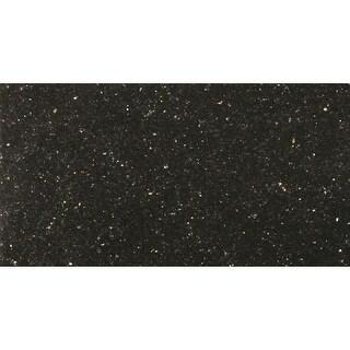 "Emser Tile G14GR101224GAL Granite - 24"" x 12"" Rectangle Multi-Surface Tile - Pol - galaxy black - N/A"