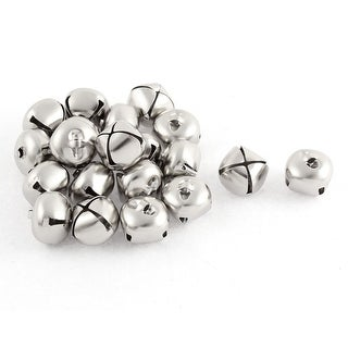 Metal Hollow Out Round Christmas Jingle Bells 0.24 Inch 20pcs