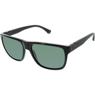 Emporio Armani Men's EA4035-501771-58 Black Square Sunglasses