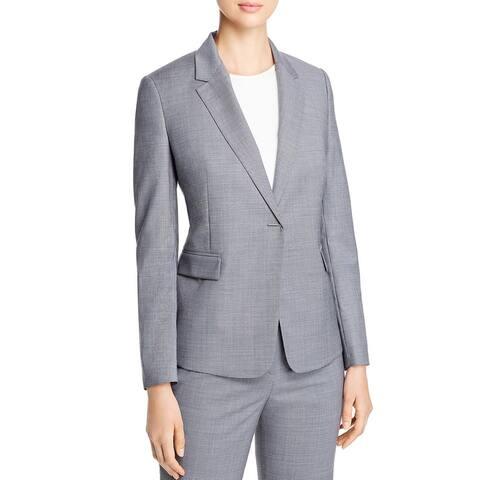 BOSS Hugo Boss Womens Jeniver Blazer Wool Business - Black/White