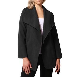 Link to NE PEOPLE Womens Drape Front Belt Waist Trench Coat Cardigan [NEWJ126] Similar Items in Women's Outerwear