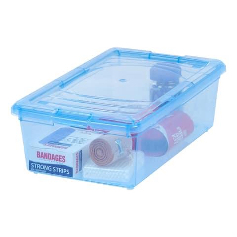 IRIS 6 Quart Modular Storage Box in Blue