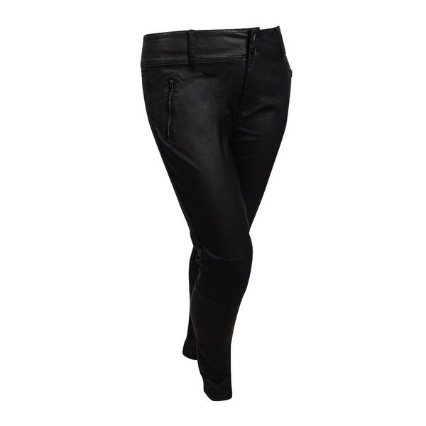 ae9043cf31 Shop City Chic Women s Plus Size Wet Look Moto Stretch Skinny Jeans ...