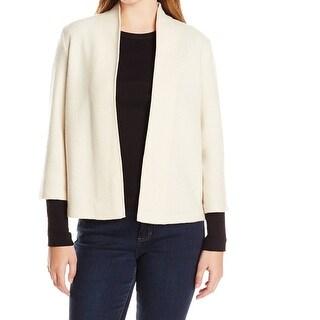 Anne Klein NEW Beige Women's Size Medium M Cardigan Wool Sweater