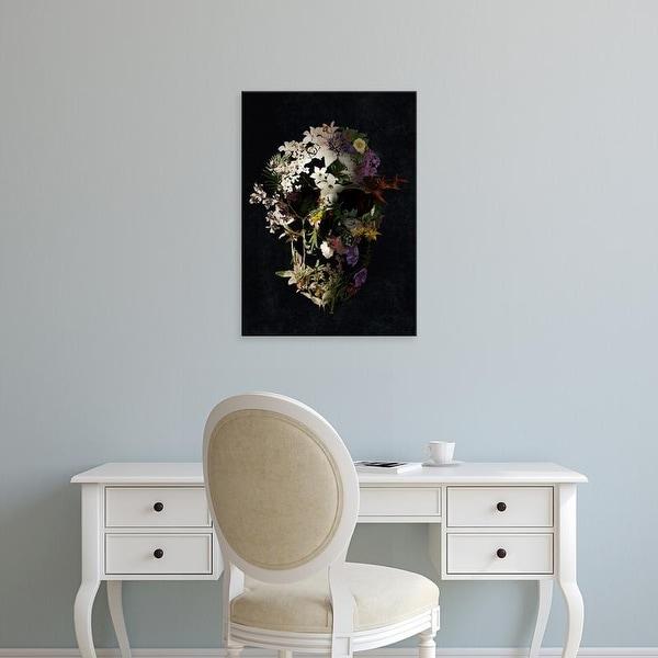 Easy Art Prints Ali Gulec's 'Spring Skull II' Premium Canvas Art