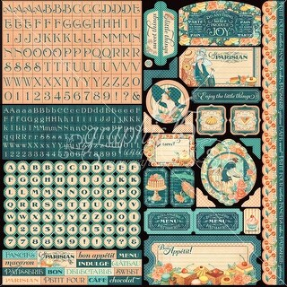 "- Cafe Parisian Cardstock Stickers 12""X12"""