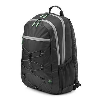 HP 15-inch Laptop Sport Backpack (Black/Green) - black