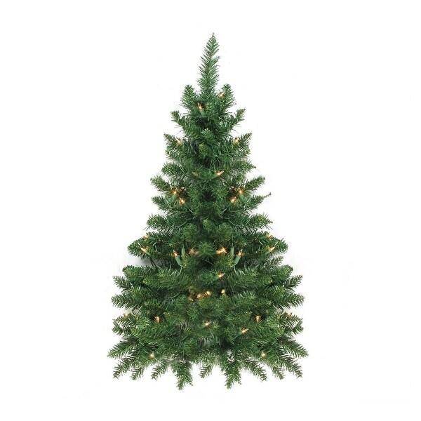 3' Pre-Lit Buffalo Fir Artificial Christmas Wall or Door Tree - Clear Dura Lights