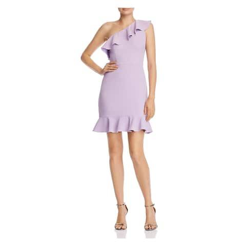AIDAN MATTOX Womens Purple Above The Knee Sheath Dress Size 10