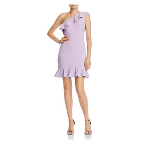 AIDAN MATTOX Womens Purple Above The Knee Sheath Dress Size 6
