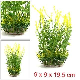 Plastic Aquarium Landscape Decorative Plant Home Decor W Ceramic Base Yellow 9 X 9 X 19 5 Cm 3 54 X 3 54 X 7 68 L W H On Sale Overstock 24152862