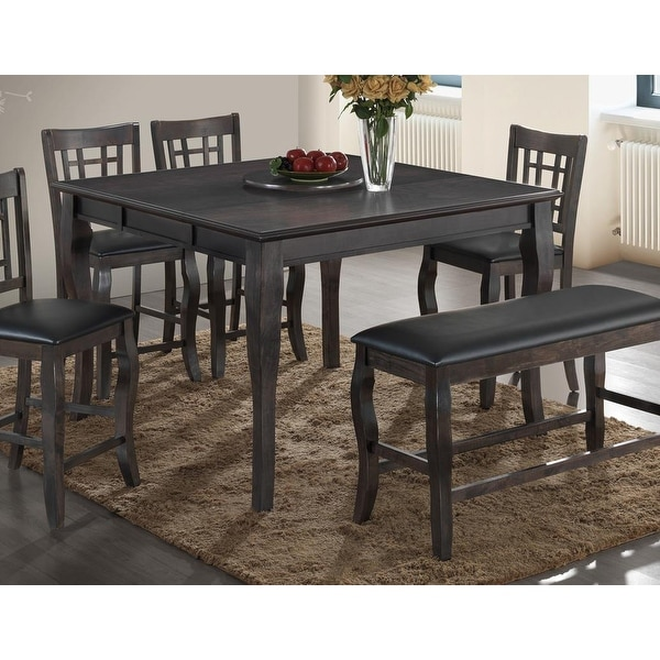 Best Master Furniture Brown Wood Square Counter-height Table. Opens flyout.