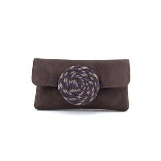 Shiraleah 01-01-602 Women Faux Leather Clutch NWT - Brown