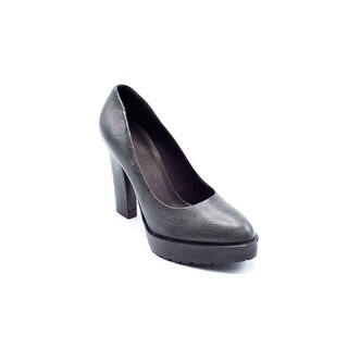 Brunello Cucinelli Grey Pebbled Leather Heels