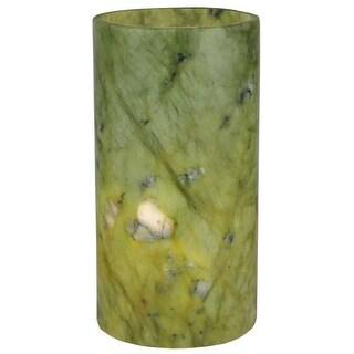 """Meyda Tiffany 121502 3.4"""" W X 6.5"""" H Jadestone Green Flat Top Candle Cover"""
