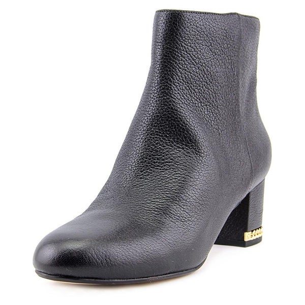 fdf159e73f Michael Michael Kors Sabrina Mid Bootie Women Round Toe Leather Black Ankle  Boot
