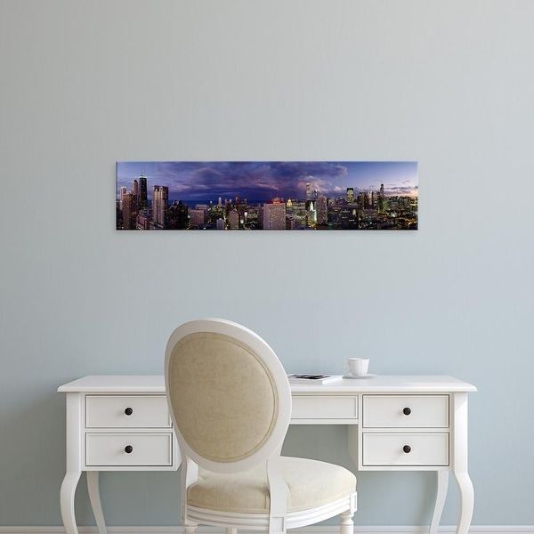 Easy Art Prints Panoramic Images's 'Evening Chicago IL' Premium Canvas Art