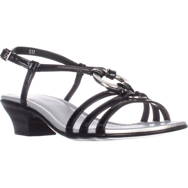 Easy Street Selena Dress Sandals, Black - 8 us
