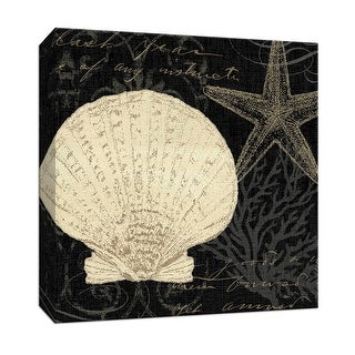 """PTM Images 9-152678  PTM Canvas Collection 12"""" x 12"""" - """"Coastal Moonlight II"""" Giclee Starfishes Art Print on Canvas"""