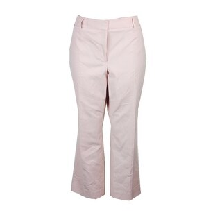 Tommy Hilfiger Dusty Pink Cropped Straight-Leg Pants 2