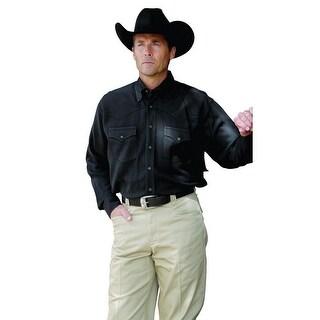 Miller Ranch Western Shirt Mens Long Sleeve Silk Black