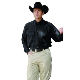Miller Ranch Western Shirt Mens Long Sleeve Silk Black