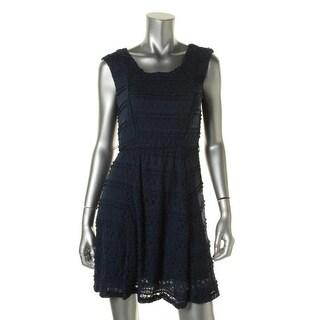 Trixxi Womens Juniors Casual Dress Lace Sleeveless - L