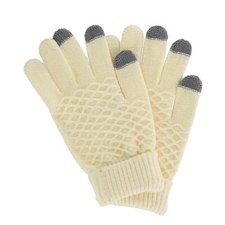 CTM® Women's Jacquard Pattern Dress Winter Touchscreen Glove