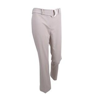 Calvin Klein Women's Petite Belted Straight-Leg Pants - KHAKI (5 options available)