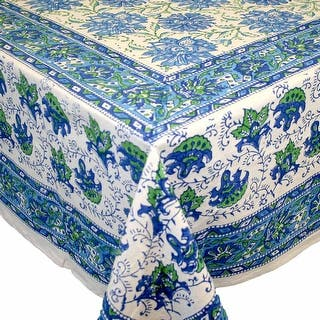 Handmade Lotus Flower Block Print 100% Cotton Tablecloth Blue 60x90 Inches Rectangular 72 Inch Round 60x60 Inch Square Napkins|https://ak1.ostkcdn.com/images/products/is/images/direct/4b70aae2005026dddd99eb87da3a52737a5f0958/Handmade-Lotus-Flower-Block-Print-100%25-Cotton-Tablecloth-Blue-60x90-Rectangular-Round-Square.jpg?impolicy=medium