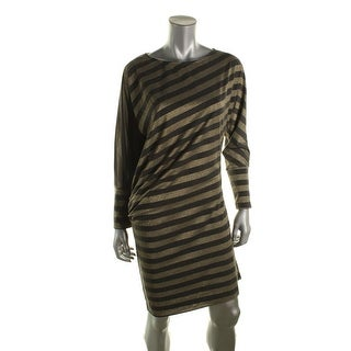 Greylin Womens Metallic Heathered Clubwear Dress - M