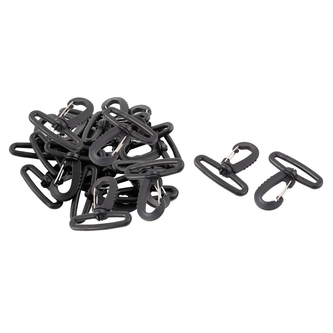 20pcs Plastic Swivel Snap Hook Clip Backpack Bag Belt Strap Rope Buckle