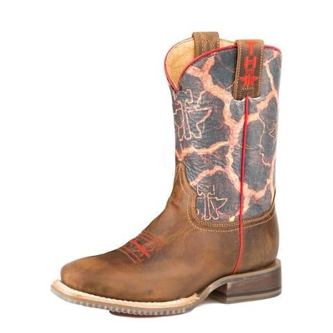 Tin Haul Western Boot Boys Volcanic Brown