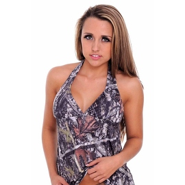 Women's Green Camo Authentic True Timber Bikini Tankini TOP ONLY Beach Swimwear