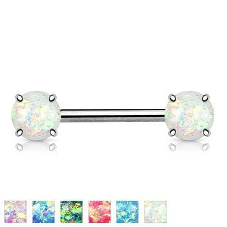 Prong Glitter Opal Front Facing Surgical Steel Nipple Barbell - 14GA (Sold Ind.)|https://ak1.ostkcdn.com/images/products/is/images/direct/4b72e1aae03259720234ac650b367588568b119d/Prong-Glitter-Opal-Front-Facing-Surgical-Steel-Nipple-Barbell---14GA-%28Sold-Ind.%29.jpg?impolicy=medium