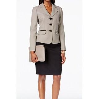 Le Suit NEW Black White Women's Size 18 Seamed Skirt Suit Printed Set