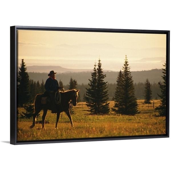 Shop Cowboy Riding Horse Multi Color Free Shipping