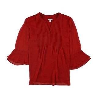 Link to Charter Club Womens Pintucked Pullover Blouse Similar Items in Tops