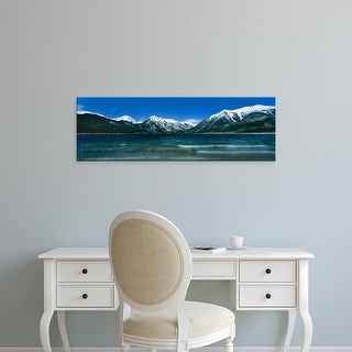 Easy Art Prints Panoramic Image 'Lake with mountain range in the background, Twin Lake, Colorado, USA' Canvas Art