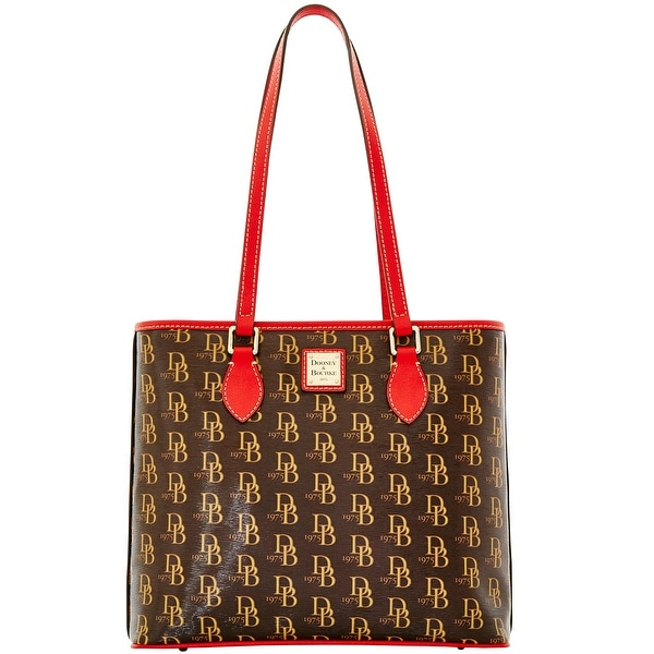 Dooney & Bourke 1975 DB Signature Richmond Shopper (Introduced by Dooney & Bourke at $228 in Jul 2015) - Red
