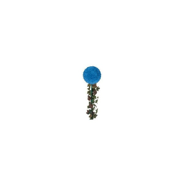 "Wintergreen Lighting 13700 7.5"" Starlight Sphere on a stake with 100 Blue Lights - N/A"