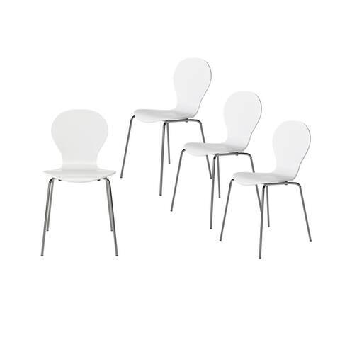 Carson Carrington Flinn Mid Century Modern Armless Dining Chair (Set of 4)