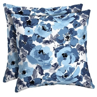 Link to Arden Selections Garden Delight Outdoor Square Pillow 2-Pack - 16 in L x 16 in W x 5 in H Similar Items in Outdoor Cushions & Pillows