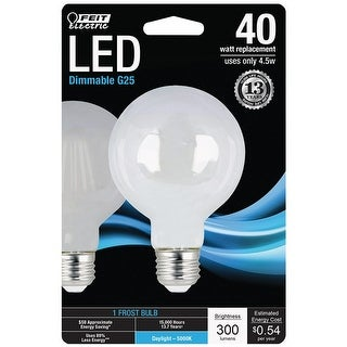 Feit Electric BPG2540F850LED G25 Dimmable LED Light Bulb, 4.5 Watts