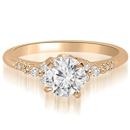 0.70 cttw. 14K Rose Gold Round Cut Diamond Engagement Ring
