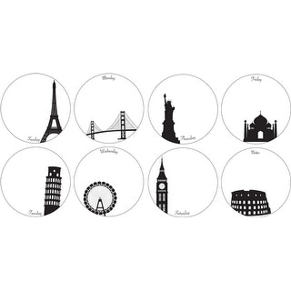 """Brewster TWPE96855  13"""" x 13"""" - Weekly Dots - Self-Adhesive Repositionable Vinyl Wall Decal - Set of 16"""